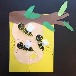 Bees Printmaking (1)