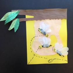 Bees Printmaking (11)