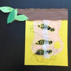 Bees Printmaking (2)