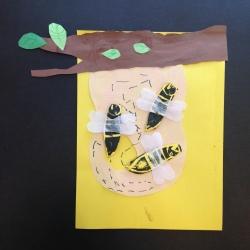 Bees Printmaking (3)