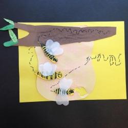 Bees Printmaking (6)