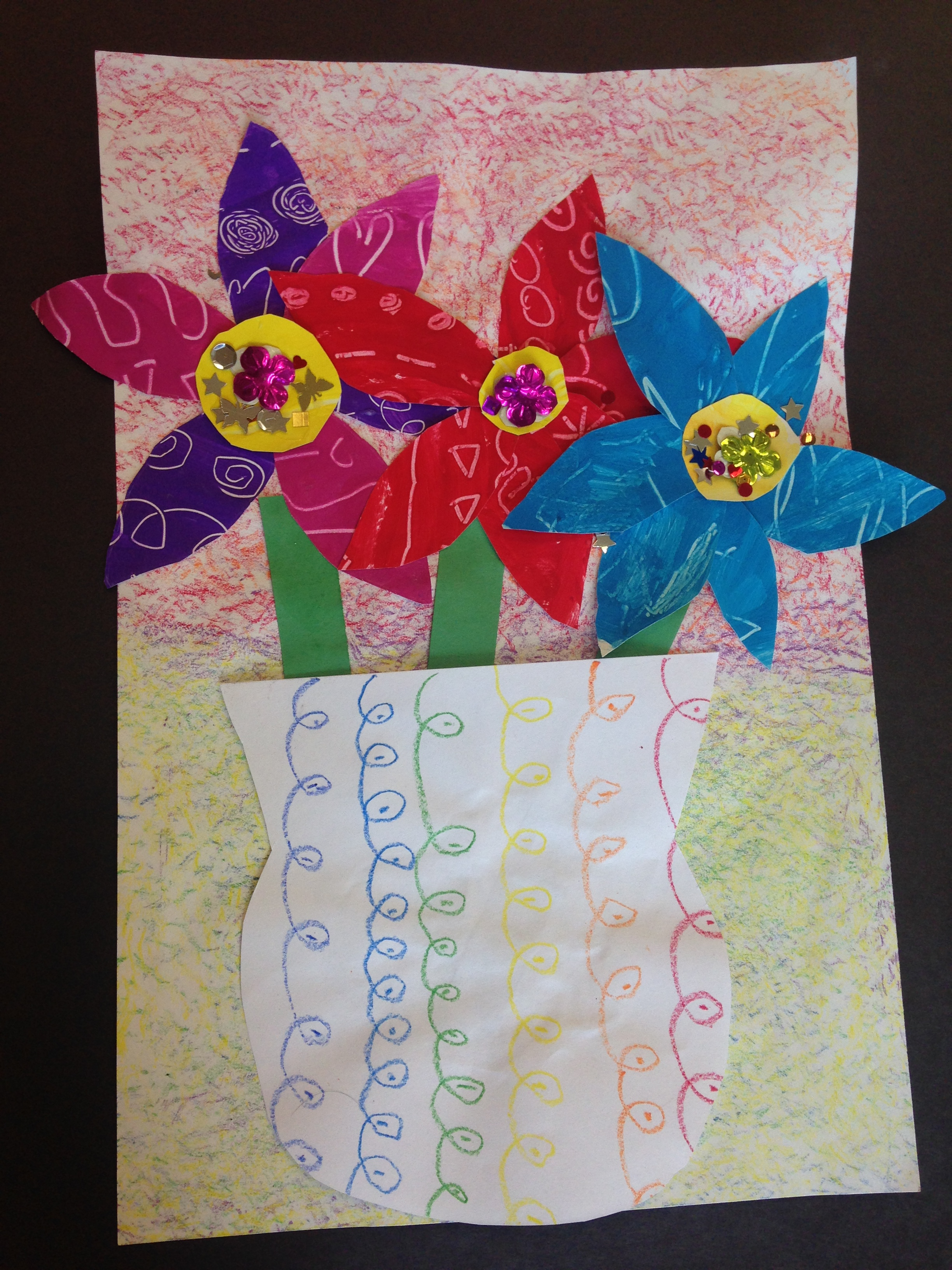 K painted paper flowers for Painted paper flowers
